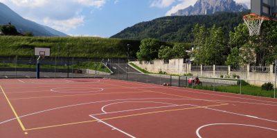 Campetto basket Tonadico ritrutturato